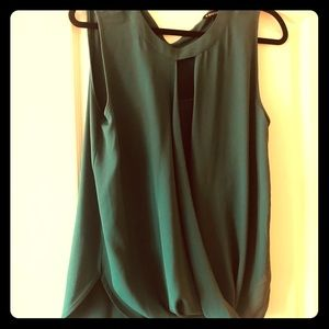 41 Hawthorne emerald green dress top